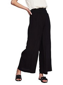 1.STATE Smocked Pull-On Culottes RICH BLACK