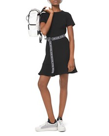 MICHAEL Michael Kors - Logo-Belt A-Line Mini Dress