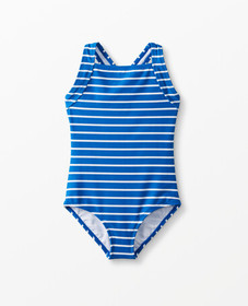 Hanna Andersson Sunblock One Piece in Baltic Blue