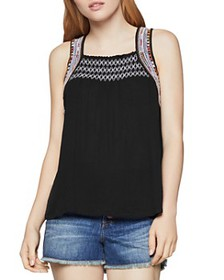 BCBGENERATION - Embroidered Smocked Top