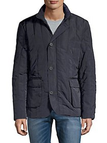 Black Brown 1826 Quilted Puffer Jacket NAVY