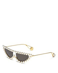 Gucci - Women's Simulated Pearl-Embellished Cat Ey