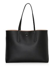 Kate Spade New York Large Molly Leather Tote BLACK