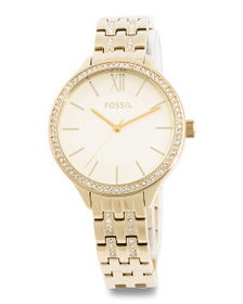 FOSSIL Women's Suitor Crystal Accented Bracelet Wa