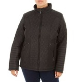 WEATHERPROOF Plus Size Quilted Jacket With Elastic