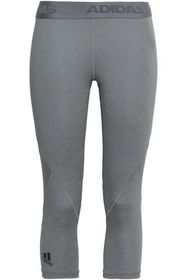 ADIDAS Mesh--paneled stretch-jersey leggings