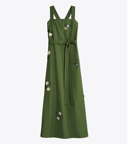Tory Burch Embroidered Poplin Dress