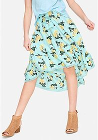 Justice Smocked High Low Maxi Skirt