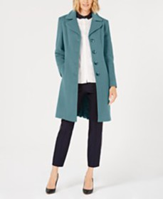 Anne Klein Single-Breasted Walker Coat, Created fo