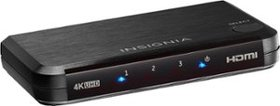 Insignia™ - 3-Port HDMI Switch with 4K and HDR Pas