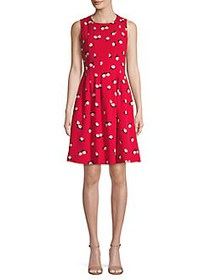 Anne Klein Printed Fit-&-Flare Dress PINOT