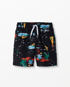 Hanna Andersson Sunblock Swim Shorts in Black - ma