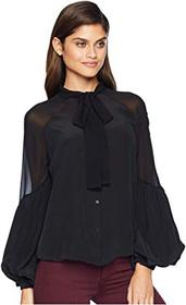 7 For All Mankind Bow Tie Blouson Top