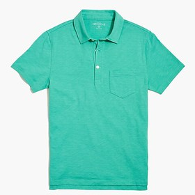 J. Crew Factory Short-sleeve polo shirt in slub co