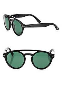 Tom Ford Clint 50MM Round Sunglasses GREEN MULTI