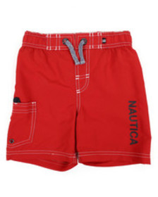 Nautica swim trunks w/ marled drawstrings (4-7)