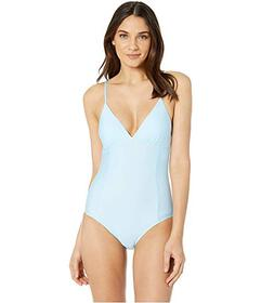 Splendid Solid Removable Soft Cup One-Piece Swimsu