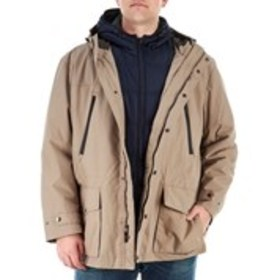 LONDON FOG Big & Tall Hooded 3-In-1 Systems Jacket
