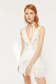 Lioness Love You And Leave You Lace Mini Dress