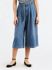 Levi's Pleated Belted Crop Women's Jeans