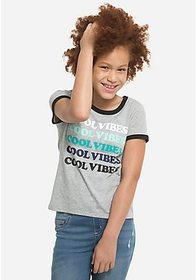 Justice Cool Vibes Ringer Tee