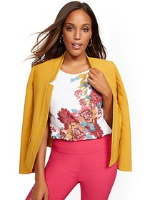 Floral Cap-Sleeve Top - 7th Avenue - New York & Co