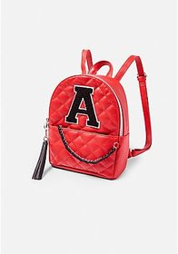 Justice Initial Quilted Mini Backpack
