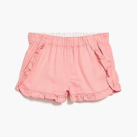 J. Crew Factory Girls' pull-on ruffle short in chi