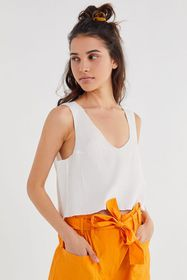 UO Cropped Shell Tank Top