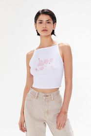 Truly Madly Deeply Cherry Blossom Cropped Tank Top