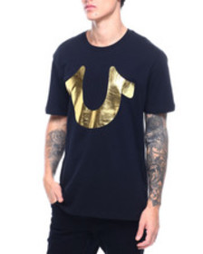 True Religion gold horse shoe tee
