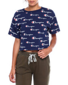 Champion heritage cropped tee-all over print