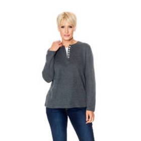 Plus Size Speculation Long Sleeve Open Button Henl