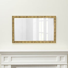 Crate Barrel Champagne Gold Birch Rectangular Wall