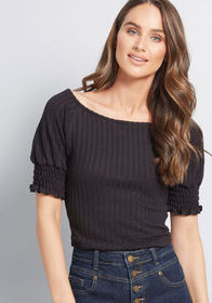 ModCloth ModCloth One to Admire Knit Top Black