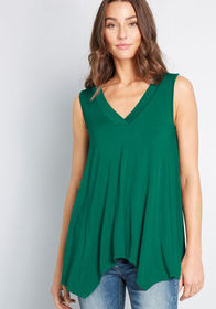 ModCloth ModCloth Airy Image Tank Top in Green