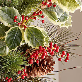 Crate Barrel Large Pine Holly Bunch