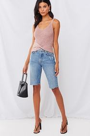 Forever21 Twisted Sweater-Knit Tank Top