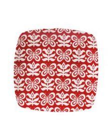 Pfaltzgraff Color Square Salad Plate Red