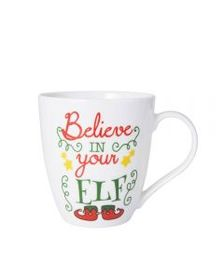 Pfaltzgraff Holiday Believe In Your Elf Mug