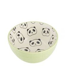 Pfaltzgraff Green Embossed Black Panda Soup Cereal