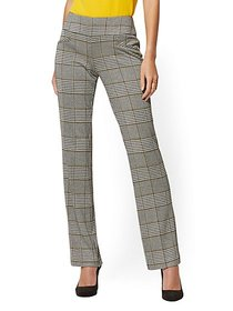 Whitney High-Waisted Pull-On Straight-Leg Pant - H