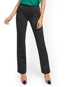 Whitney High-Waisted Pull-On Straight-Leg Pant - G
