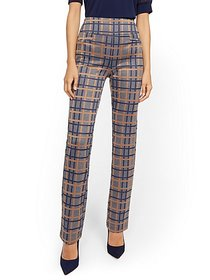 Whitney High-Waisted Pull-On Straight-Leg Pant - B