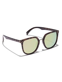 Faux-Tortoise Oval Cat-Eye Sunglasses - New York &