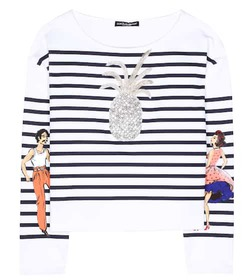 Dolce & Gabbana Striped cotton T-shirt