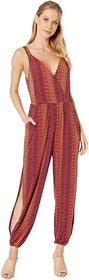 BCBGeneration Folklore Stripes Surplice Jumpsuit