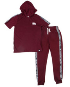Ecko 2pc s/s jrsy hooded tee jogger set (2t-4t)