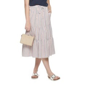 Women's POPSUGAR Tiered Midi Skirt