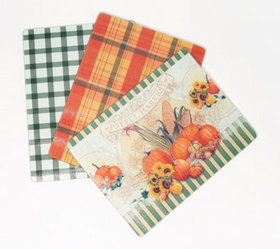 Set of 3 Harvest Glass Cutting Boards by Valerie -